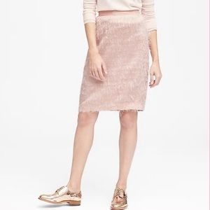 Banana Republic Pink Eyelash Pencil Skirt